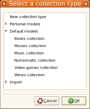 Selection of collection type