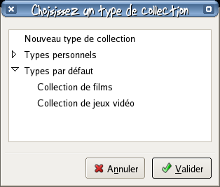 Choix du type de collection